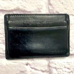 Men's coach card wallet and money clip black